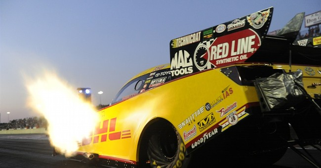 Langdon sets track record in Top Fuel qualifying