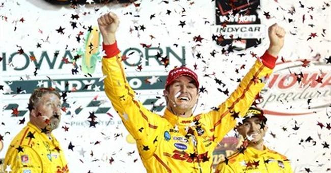 Hunter-Reay wins IndyCar race in Iowa
