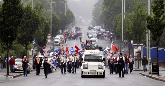 Annual Protestant march in Belfast mostly peaceful