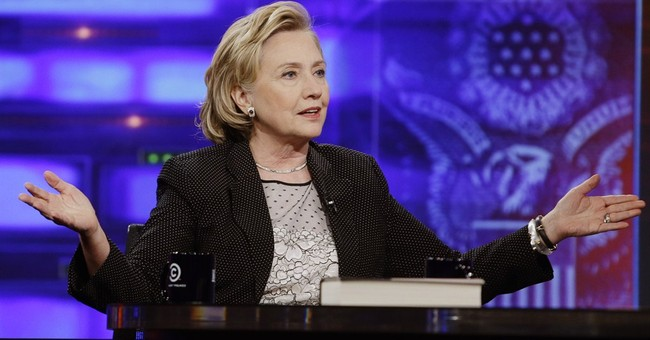 No hints from Hillary Clinton on 'The Daily Show'