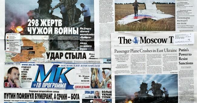 Russians fed conspiracy theories on Ukraine crash