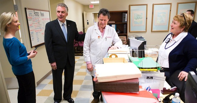 McAuliffe travels Va. touting Medicaid expansion