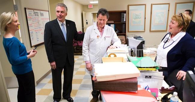 McAuliffe travels Va. touting Medicaid expansion