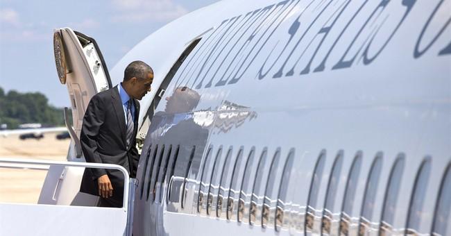 As Ukraine Crisis Unfolds, Obama Presses Ahead with Burger Photo Op, Infrastructure Speech, Dem Fundraiser