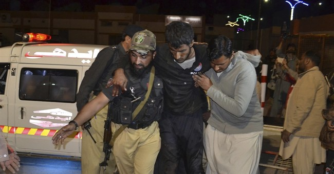 Pakistani officials say 48 police trainees killed in attack