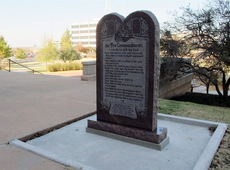 Satanist Destroys Ten Commandments Monument