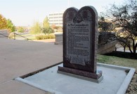 Satanist Destroys Ten Commandments Monument