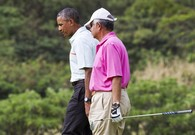 Obama Tees Off In Hawaii