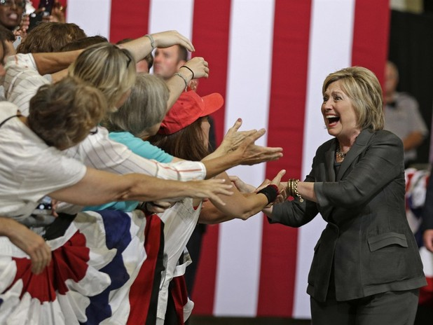 Clinton Proudly Claims The Woman Card In Raleigh Stump Speech