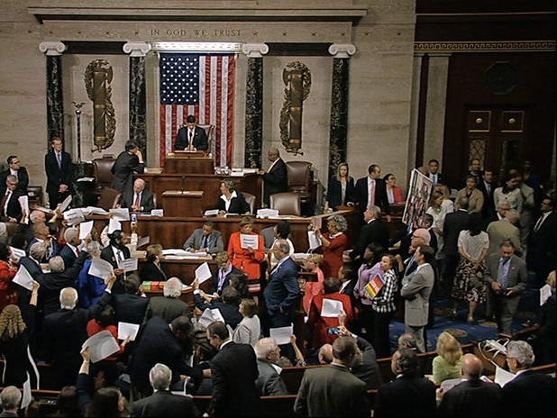 Democrats Stage House Sit-In For Gun Vote