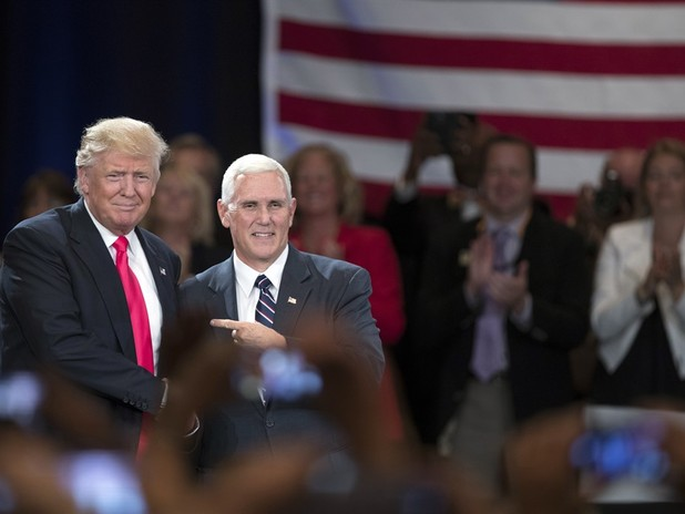 Trump And Pence Address Thousands Of Veterans At The VFW Convention