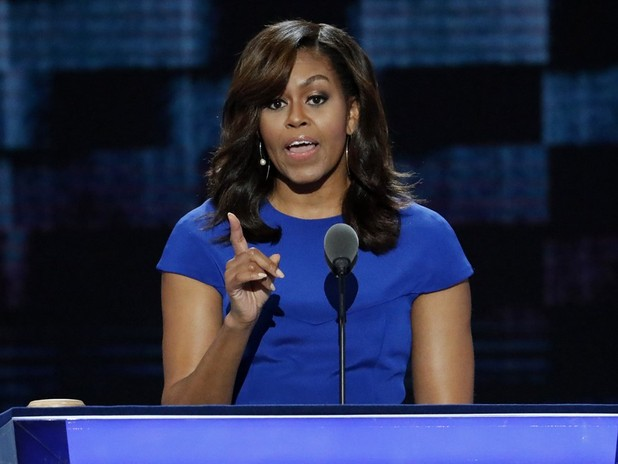"Michelle Obama: ""In This Election, I'm With Her"""
