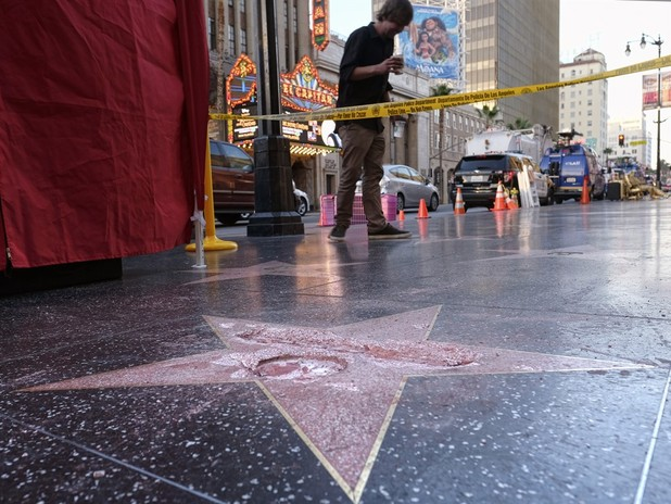 Donald Trump's Walk of Fame Star Vandalized With Sledgehammer