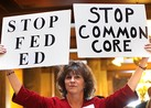 Common Core Protest At Department of Education Building