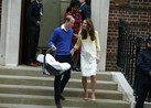 New Father Prince William Leaves Hospital