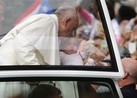 Pope Visits 'Grotto of Knots,' Blesses Babies
