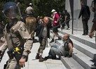 Authorities in Sacramento, California ten people were injured Sunday after violence broke out between a white supremacist group and counter-protesters.