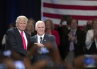 Republican nominee for President, Donald Trump, and his running mate, Mike Pence, spoke to veterans about the need for VA reform at the 117th Veterans of Foreign Wars Convention in Charlotte on July 26, 2016.