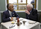 After beating Clinton in Tuesday's New Hampshire primary, Bernie Sanders sat down to breakfast with the highly influential Reverend Al Sharpton.