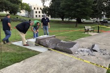 Hate Crime! Vile Thug Destroys Ten Commandments Monument