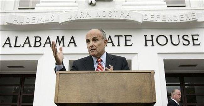 Rudy to pro-lifer: drop dead
