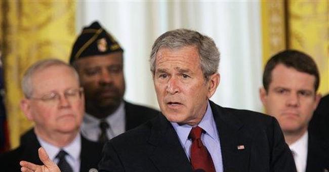 Bush Behind Barricades