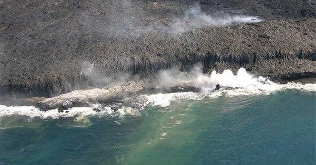 New lava flow oozes from Hawaii's Kilauea volcano