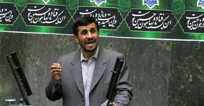 Tapping Ahmadinejad's egg