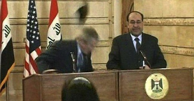 Suppose the Shoe Thrower Targeted Saddam