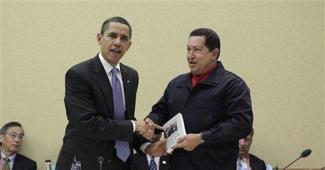 An Ugly Handshake with Hugo Chavez