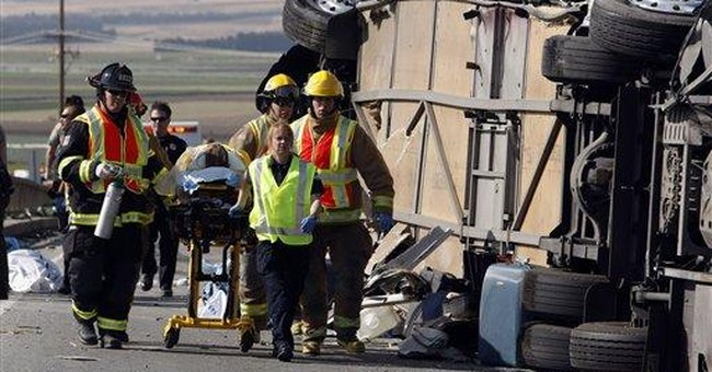 Calif. Highway Patrol re-enacts fatal bus crash
