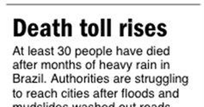 Floods affect about 31,000 in Brazil