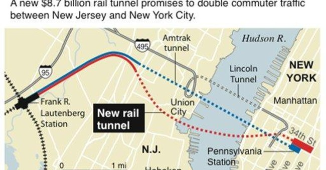 Officials: NJ-NY tunnel cost estimate is $9.77B