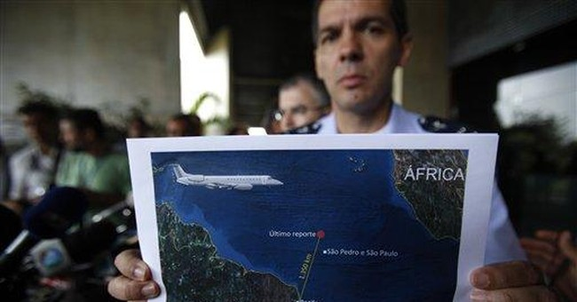 Recovery ship at Air France crash site in Brazil