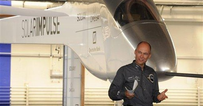 Solar plane begins 1st transcontinental flight