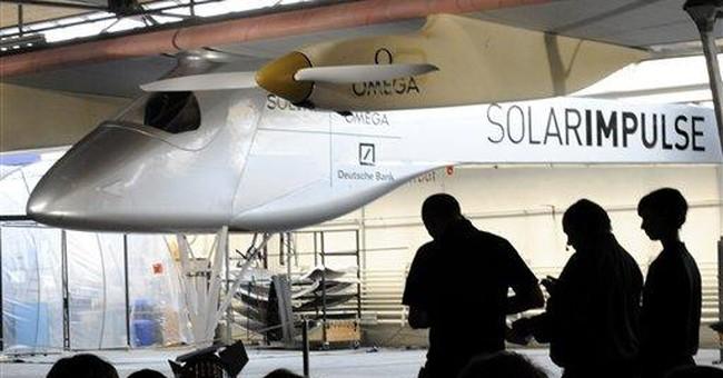 Swiss solar plane team aims for Mediterranean sun