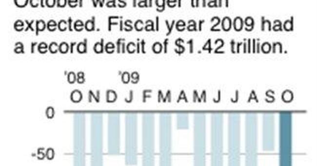 US gov't runs $1.3 trillion budget deficit in 2011