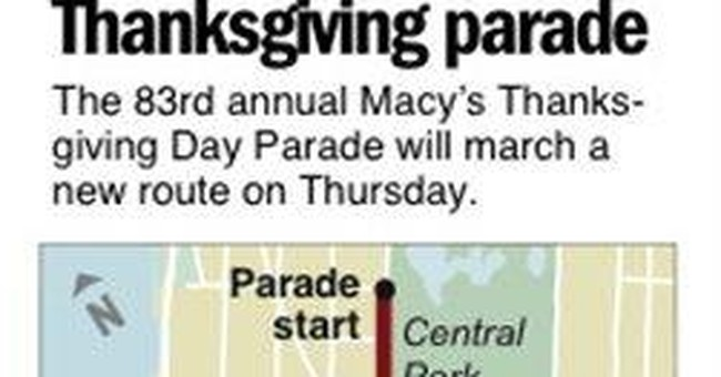 NYC Thanksgiving Day Parade to change its route