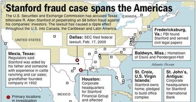Financier Stanford drops lawsuit against officials