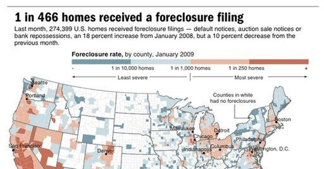 Foreclosures made up 20 pct. of home sales in 3Q