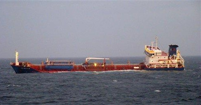 Chemical tanker being towed toward French coast