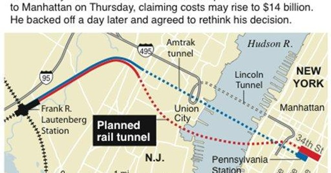 NJ senator: Threatened tunnel would drive growth