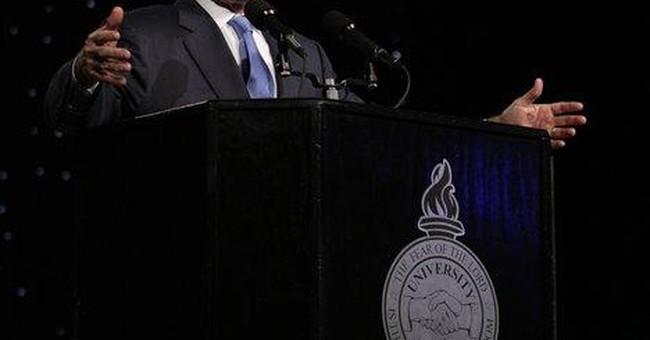 Bush tells Ala. audience he doesn't miss limelight