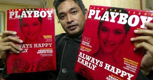 Editor enters prison for pics in Playboy Indonesia