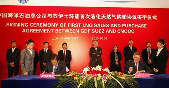 China's CNOOC signs LNG deal with GDF Suez