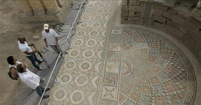 Jericho unveils massive ancient mosaic