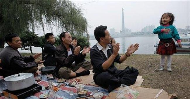 Picnics and paddleboats as Pyongyang celebrates