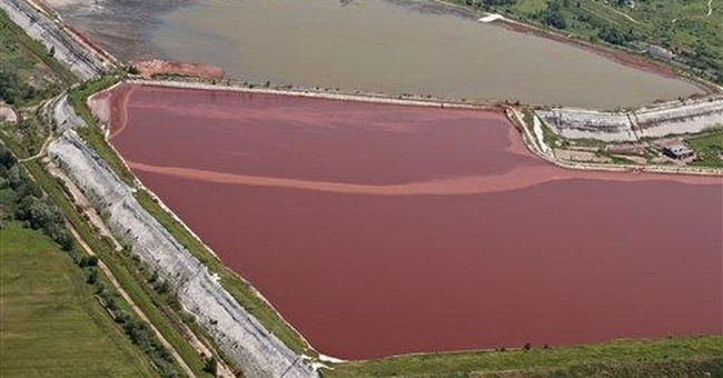 Photo shows apparent leak before Hungary spill