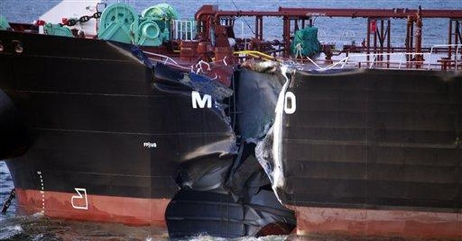 Tanker, container ship collide in North Sea