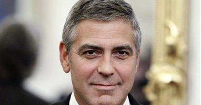 For Clooney, meeting presidents is a family thing